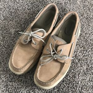 Women's Tan Leather Sperry Boat Shoes - Size 9 1/2